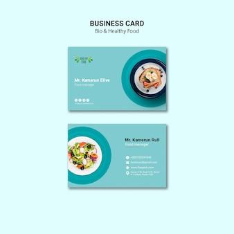 Cartão de visita do modelo de restaurante