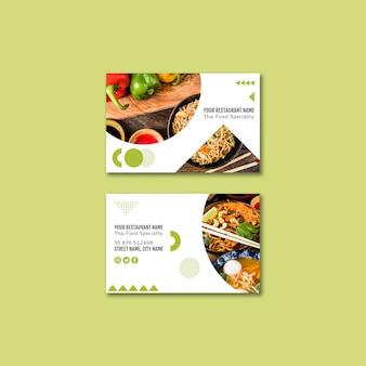 Cartão de visita do restaurante tailandês