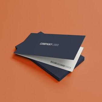 Cartão de visita dobrado maquete psd premium