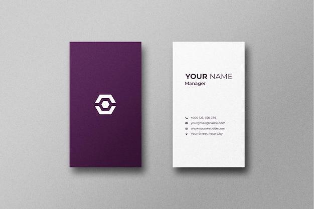 Cartão de visita e maquete de cartão de visita
