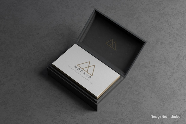 Cartão de visita elegante com modelo de capa