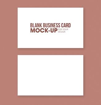 Cartão de visita em branco e modelo de maquete de cartão de nome