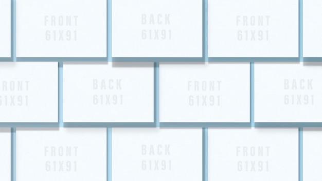 Cartão de visita em branco. maquete de dois cartões horizontais