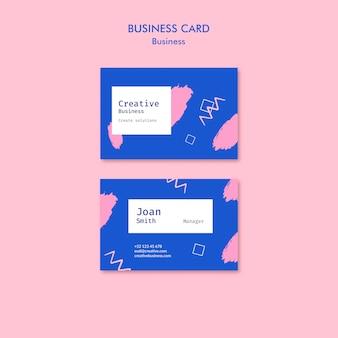 Cartão de visita em estilo memphis