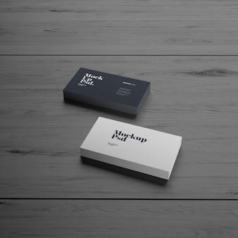 Cartão de visita em madeira textura maquete premium psd