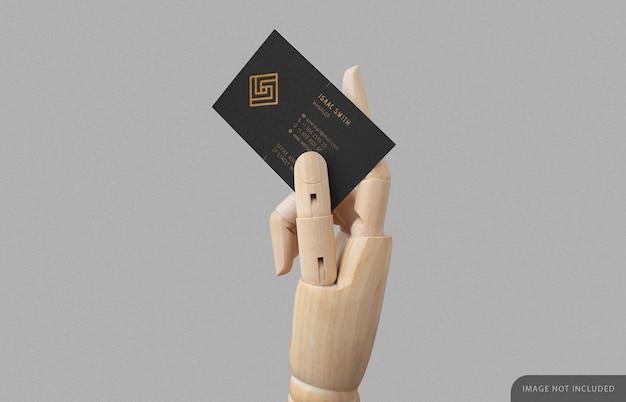 Cartão de visita em maquete de madeira
