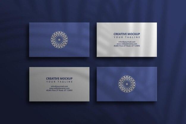 Cartão de visita escuro com maquete de papel psd
