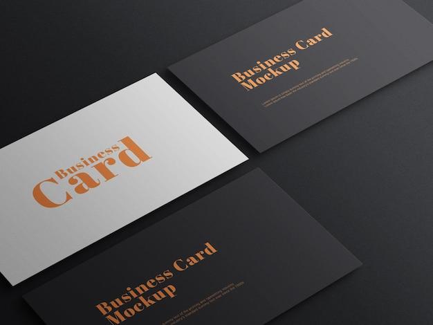 Cartão de visita escuro elegante modelo psd