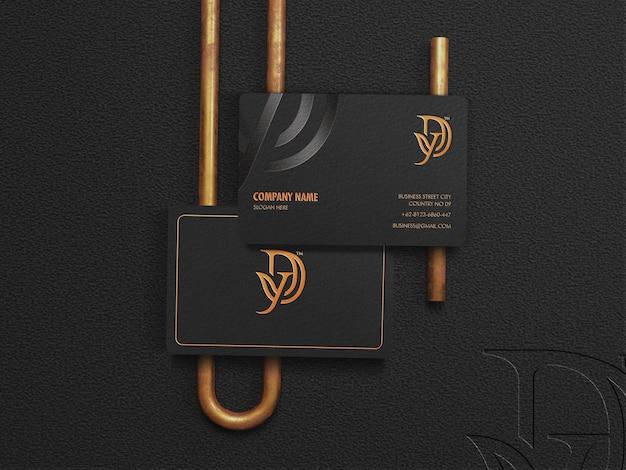 Cartão de visita horizontal elegante para maquete de identidade de marca