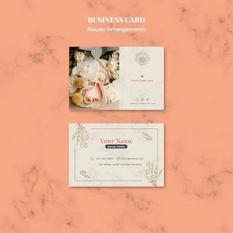 Cartão de visita horizontal para loja de arranjos florais