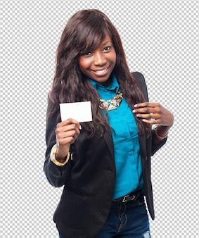 Cartão de visita legal de mulher negra