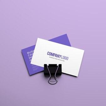 Cartão de visita maquete premium psd