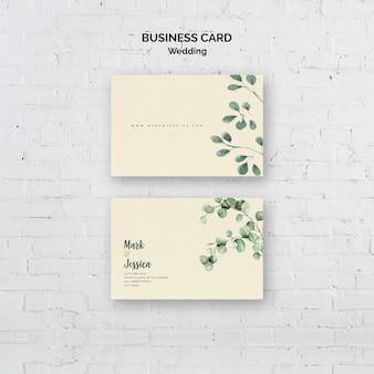 Cartão de visita minimalista do casamento