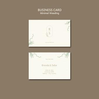 Cartão de visita mínimo de casamento