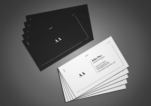 Cartão de visita mínimo e escuro