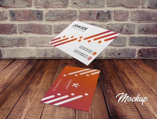 Cartão de visita mock up