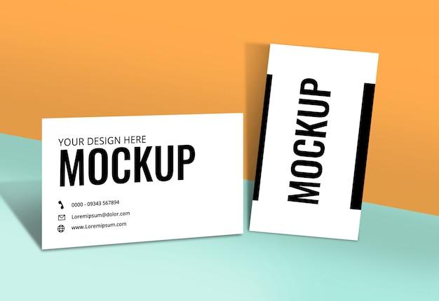 Cartão de visita mockup orange