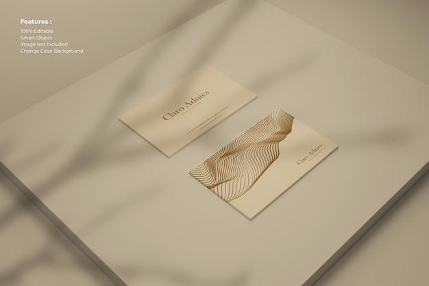 Cartão de visita moderno com sombra Psd Premium