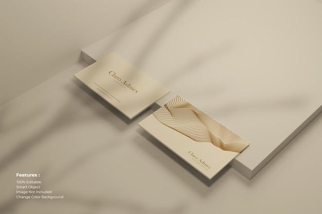 Cartão de visita moderno com sombra