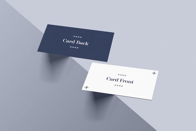Cartão de visita na maquete de borda