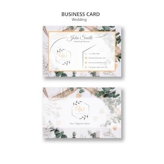 Cartão de visita para festas de casamento