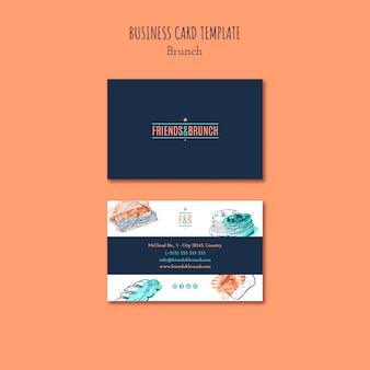 Cartão de visita para restaurante brunch
