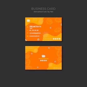 Cartão de visita para restaurante de sushi