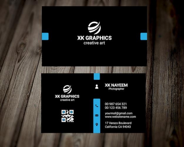 Cartão de visita pessoal do designer gráfico