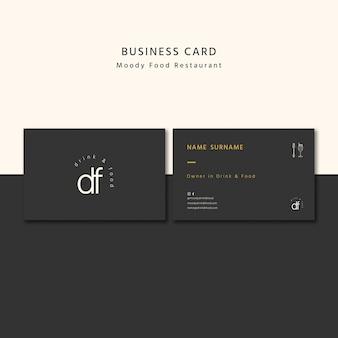 Cartão de visita profissional de restaurante