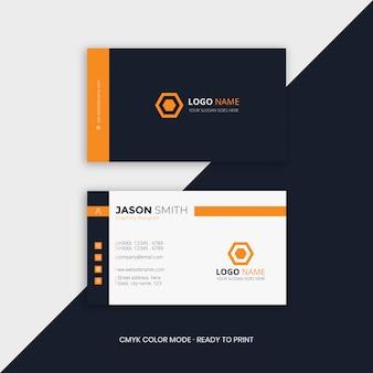Cartão de visita profissional laranja