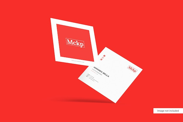 Cartão de visita quadrado