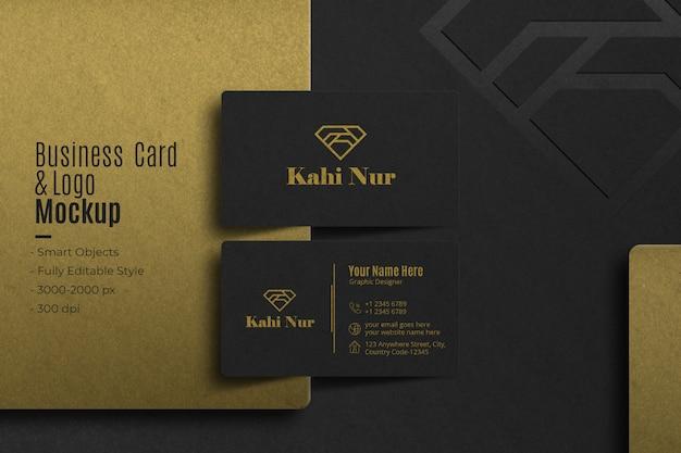 Cartão de visita realista e modelo de logotipo