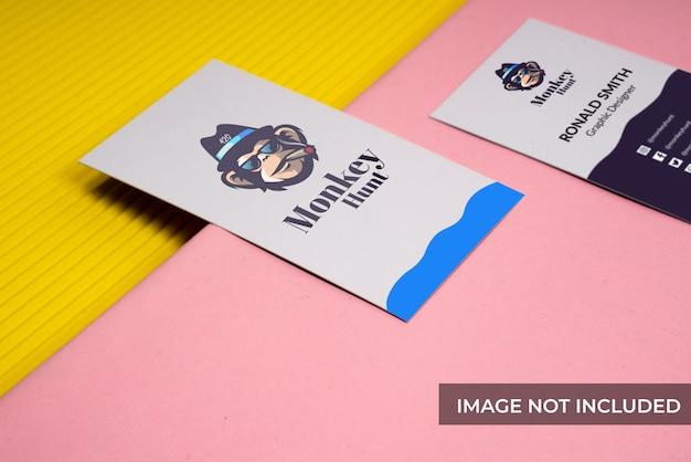 Cartão de visita realista mock-up