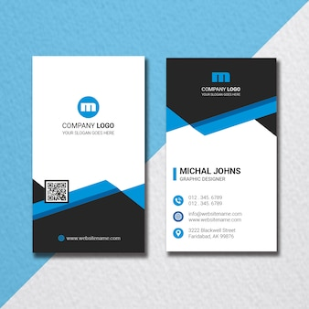 Cartão de visita vertical corporativo criativo