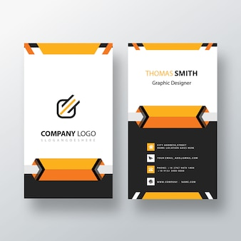 Cartão de visita vertical criativo
