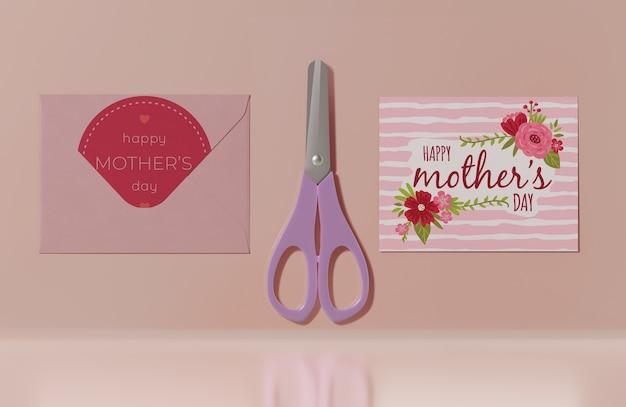 Cartão do dia das mães de close-up