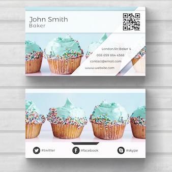 Cartão do muffin