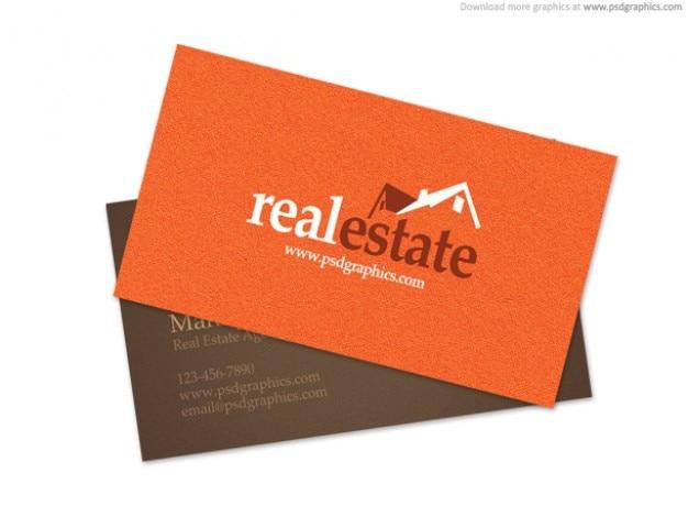 Cartão dos bens imobiliários