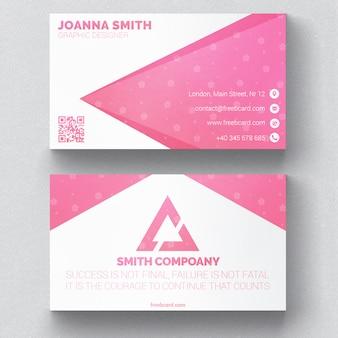 Cartão floral rosa