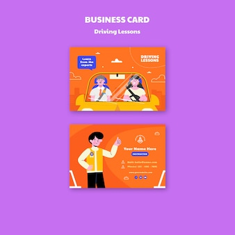 Cartão ilustrado de autoescola