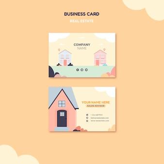 Cartão ilustrado de imóveis