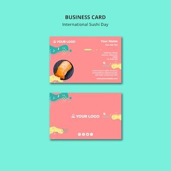Cartão internacional do dia do sushi