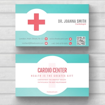 Cartão médico minimal