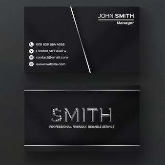 Cartão metálico escuro