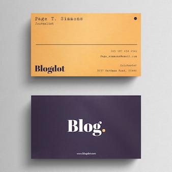 Cartão mínimo do blogger