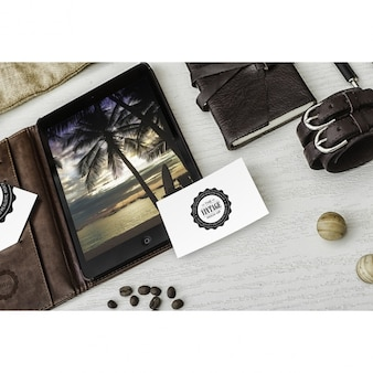 Cartão mock up projeto