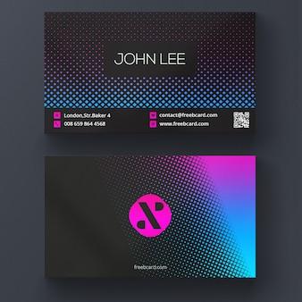 Cartão moderno de negócios vibrante cor