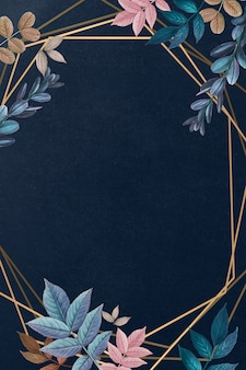 Cartão moldado botânico