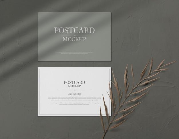 Cartão postal e maquete de cartão de convite