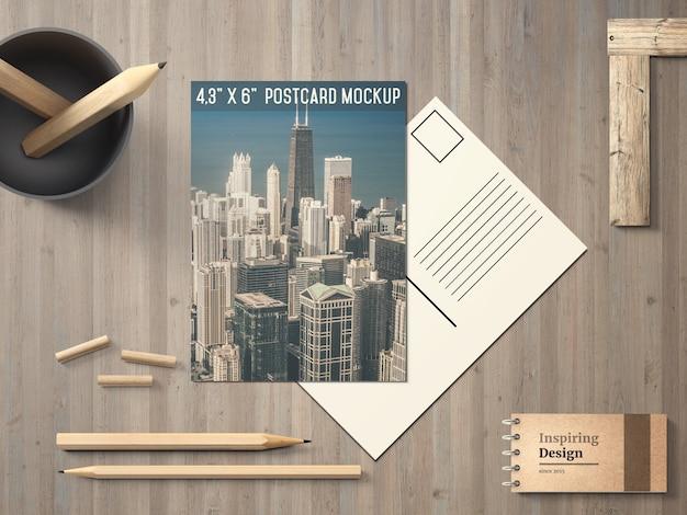 Cartão postal elegante maquete
